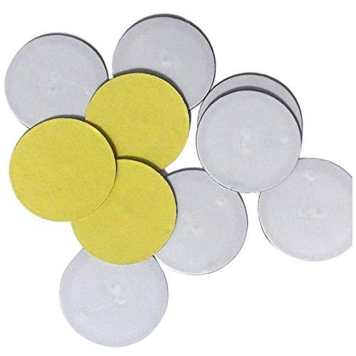 10 x NFC On-Metal Tags NXP Chip NTAG215, 504 Bytes Speicher, ultradünn (0,75 m), Anti-Metall, runde WhiteTags - Kleber für Metalloberflächen