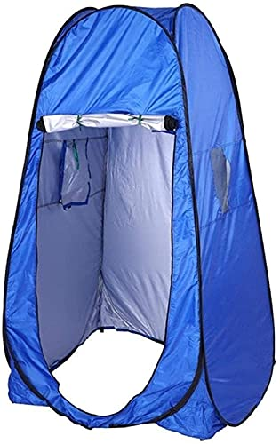 Ankon Pop Up Tent Beach Tent Tents para Acampar al Aire Libre Tienda de Carpas Ducha Aseo Camping Tienda de campaña Verano Baño al Aire Libre Tienda Azul para Picnic Pesca