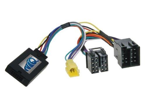 NIQ Adaptador de mando a distancia en el volante adecuado para radios de coche Kenwood compatible con Renault Clio, Kangoo, Megane y Twingo.
