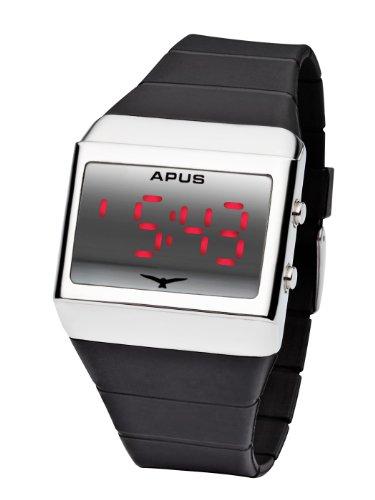 Preisvergleich Produktbild APUS Delta Silver-Red LED Watch für Ihn Design-Highlight