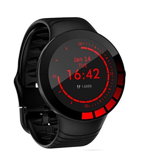 JXTXY - Pulsera inteligente con pantalla de 1,28 pulgadas, monitor de actividad física con monitor de frecuencia cardíaca, impermeable, IP68, podómetro, cronómetro, compatible con iPhone Android