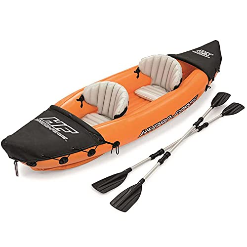 YMXLXL Kayak Hinchable para 2 Personas, con Remos, Unisex-Adult, Carga Máxima 160kg, para Lagos y Costas 321X88cm Naranja