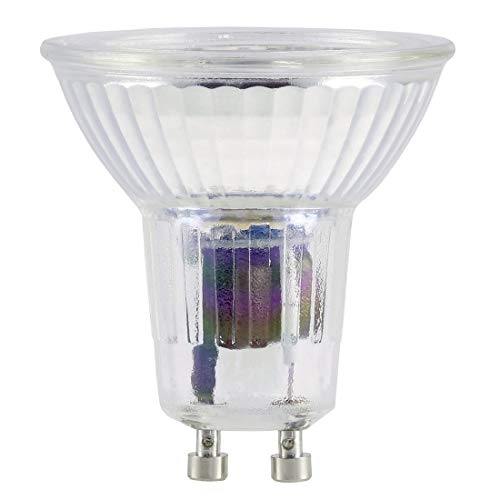 Xavax LED Leuchtmittel (38W, GU10, 250lm, 25000h, Warmweiß, 230V LED Vollglas, ersetzt PAR16) transparent