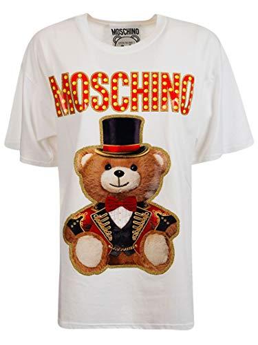 Moschino Damen V070205403001 Weiss Baumwolle T-Shirt