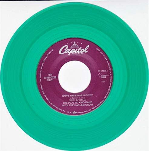 John Lennon Yoko Happy X Mas ULTRA RARE Capitol Juke Box Issue GREEN Vinyl BRAND NEW product image