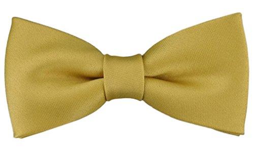 TigerTie Kleinkinder Baby Fliege in gold mit Gummizug 29 bis 40 cm Halsumfang verstellbar + Aufbewahrungsbox