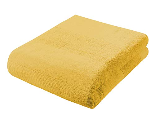 Toalla amarilla de baño (90 x 200 cm)