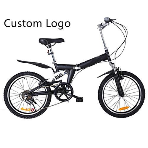 Folding Fiets Voor Kinderen Mannen En Vrouwen Foldable 20 Inch Bike Custom Fabrikant Logo,Black