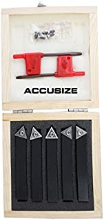 Accusize Industrial Tools 1/2'' 5 Pc Indexable Turning Tool Set, 2380-5082