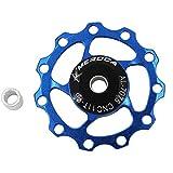 ETbotu Outdoor-Getriebe, persönliche Ausrüstung – 11T/13T Aluminiumlegierung MTB Mountainbike Fahrrad Schaltwerk Riemenscheibe Stützrad Rennrad Führungsrolle für 7/8/9/10 Gänge 11T blau