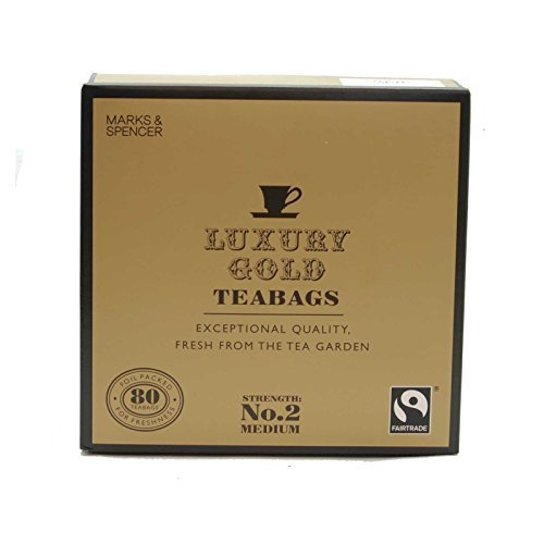 Marks & Spencer Luxury Gold Teabags 80 Bags (From the UK) by Marks & Spencer