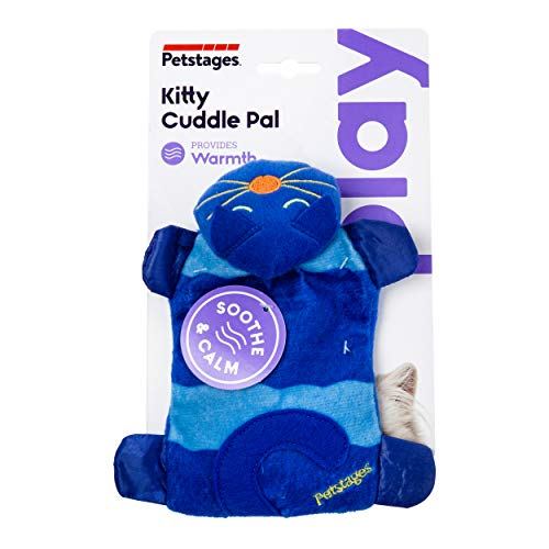 Petstages Kitty Cuddle Pal Cat Toy – Soft, Soothing, and Comforting Microwaveable Plush Stuffed Pillow
