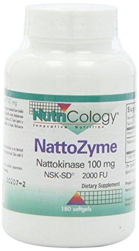 Nutricology - Magnesio de NattoZyme 100 Nattokinase. - 180Cápsulas blandas