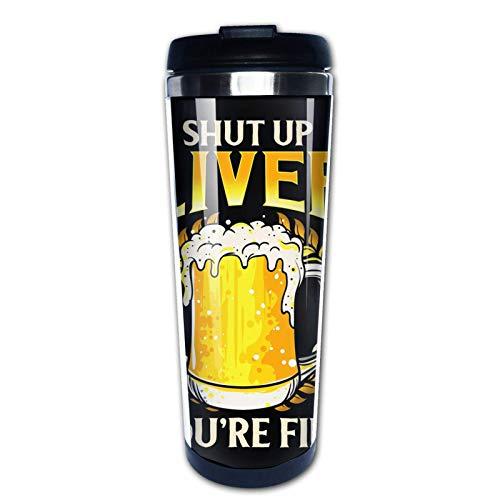 Ahdyr Taza de café de Viaje You 're Fine Beer Taza de Doble Pared aislada al vacío de Acero Inoxidable de 12 oz, Taza de café aislada para Bebidas Calientes al Aire Libre