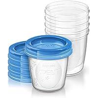 Philips Avent - Set de recipientes para leche materna (5 recipientes 180 ml + 5 tapas)