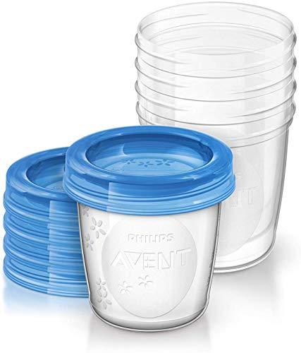 Philips AVENT SCF619/05 Aufbewahrungsbecher für Muttermilch, Becher inklusive Deckel