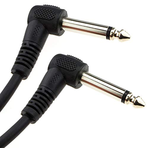 kenable 6.35mm 90 Degree Right Angle Jack Audio Mono Guitar Cable 1m [1...
