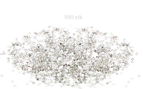 BlueBD GmbH 500 Strass di Cristallo, 3 mm, Trasparenti, Adesivi (Non termoadesivi)