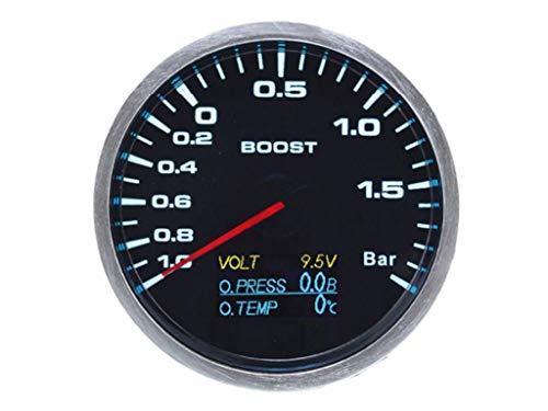 60 mm 4-in-1 Ladedruckanzeige Turbo Volt Öldruck & Öltemperatur – 7 LEDs Farbe