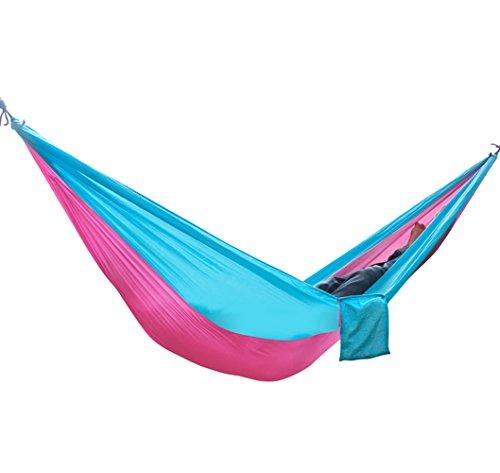 Outdoor Tapis Hamac de voyage Ultra Light Plus Personnes Charge 300 kg Set avec fixation pour Voyage, camping, jardin, trekking, plage, de voyage Hammock