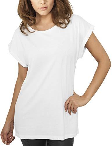 Urban Classics Damen T-Shirt Ladies Extended Shoulder Tee, Farbe white, Größe S