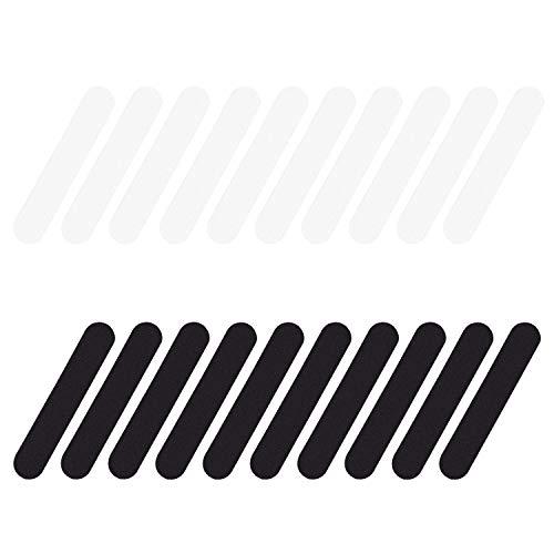 WEKON 20 Stück Hut Größe Reducer Schaum Selbstklebende Schaumstreifen Reduzierband für Hüte, Kappen, Schweißband, Schwarz und Weiß