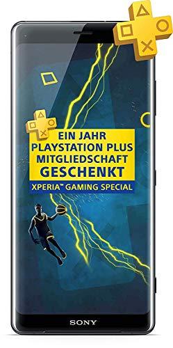 Sony Xperia XZ3 Smartphone (15,2 cm (6 Zoll) OLED Display, Dual-SIM, 64 GB interner Speicher und 4 GB RAM, BRAVIA TV Technologie, IP68, Android 9.0) Black - Deutsche Version