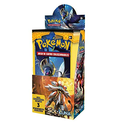 Pokémon Sonne und Mond Box mit 24 Umschlägen, Sammelkarten-Set Pokémon-Serie Sonne und Mond, Pokémon-Karten in Spanisch (jeder Umschlag enthält 3 Karten)