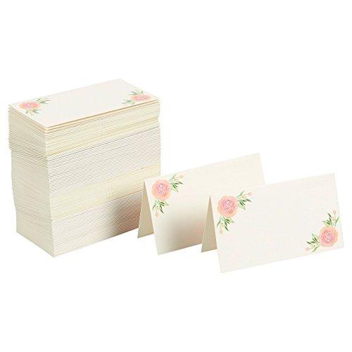 Set van 100 plaatskaarten - Kleine tentkaarten - Perfect voor evenementen, 2 x 3,5 inch