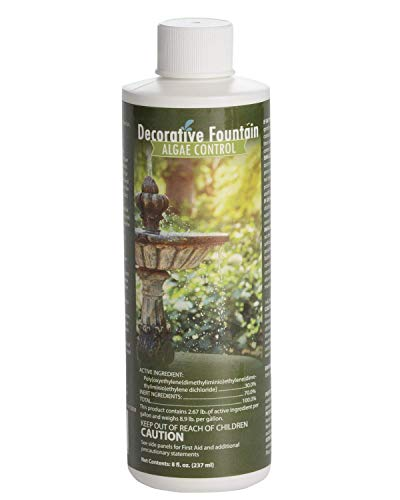 Fountain Algaecide and Clarifier, Formulated for Small Ponds, Water Features, 8oz