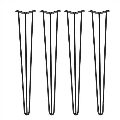 Set di 4 Gambe A Forcina per Tavolo Gambe tavolino Ferro Hairpin Legs, Piedini da Tavolo a Due Gambe per mobili e scrivania,Tavolino,Tavolo da Pranzo, in Ferro(76cm)