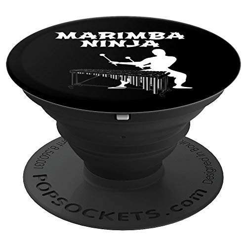 Marimba Ninja Marching Band | Funny Percussion Drumline Gift PopSockets Grip and Stand for Phones and Tablets