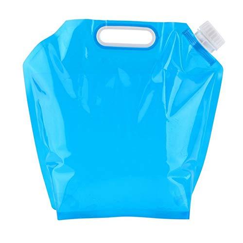 yyuezhi 2 Packs 5 Liter Faltbarer Wassertank Wasserbehälter Trinkwassertank im Freien fFaltender Wasserbeutel Leichter Camping Sport Reiten Wandern Wassersack
