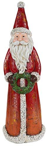LORENZON GIFT NAI-2161 Weihnachtsmann, Polyresin, Rot, Einheitsgröße