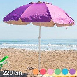 Parasol Summer 's Colour (220 cm) bleu