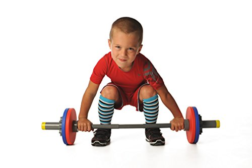 WOD Toys Barbell Mini - Adjustable Barbell Set for Kids Fitness - Safe, Durable and Kids Fitness Toys