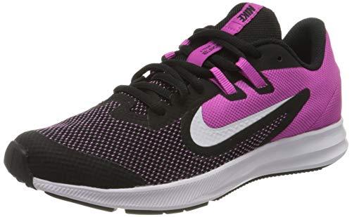 Nike Downshifter 9 (GS), Zapatillas para Correr Unisex Niños, Multicolor (Black/White/Active Fuchsia), 36 EU