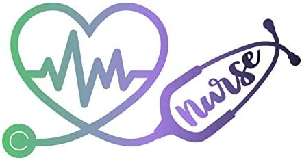 More Shiz Nurse Stethoscope Heartbeat 2 Pack Vinyl Decal Sticker Car Truck Van SUV Window Wall product image