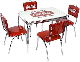 ★アメリカンダイナー COCA-COLA BRAND コカコーラブランド ダイナーテーブル&Vバックチェア×4脚セット(PJ-600DL、PJ-50HC×4)