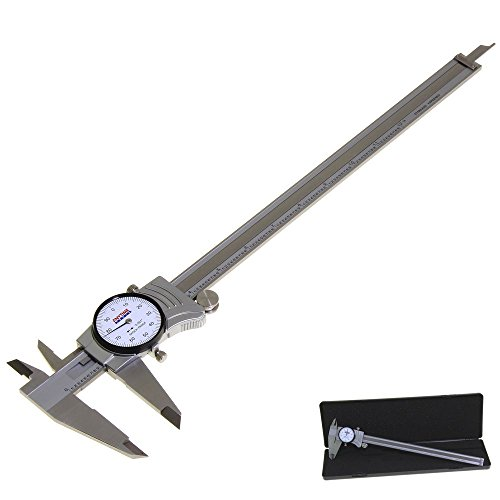 Anytime Tools Premium Dial Caliper 12'/0.001' Precision Double Shock Proof Solid Hardened Stainless...
