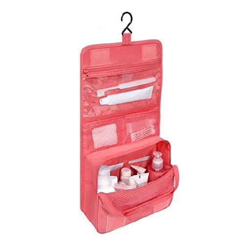 Steellwingsf Trousse de maquillage à suspendre pour femme - Trousse de toilette à suspendre - Rouge pastèque