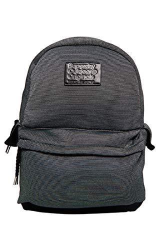 Superdry Jersey Montana - Bolso tipo mochila para mujer, negro (Black Sparkle Stripe), 30 x 45 x 13 cm (ancho x alto x largo)