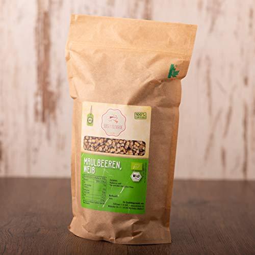 süssundclever.de® Bio Maulbeeren - weiß | 1 kg | 100% naturbelassen | plastikfrei und ökologisch-nachhaltig abgepackt