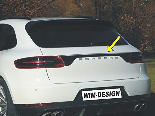 Design Aufkleber für Porsche Macan an Heckklappe Made in Germany