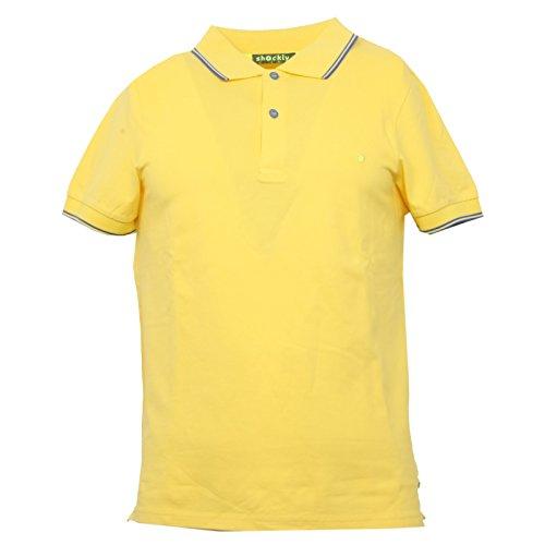 SHOCKLY B3421 Polo Uomo Giallo Manica Corta t-Shirt Polo Men [XS]