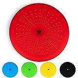 ZenBalance Plus Balancekissen, orthopädisches Sitzkissen, Luftkissen für aufrechte Haltung, Reha-Sport, Balancetraining & Krafttraining, inkl. Pumpe, E-Book & Workout-Guide, 33 cm (Rot)