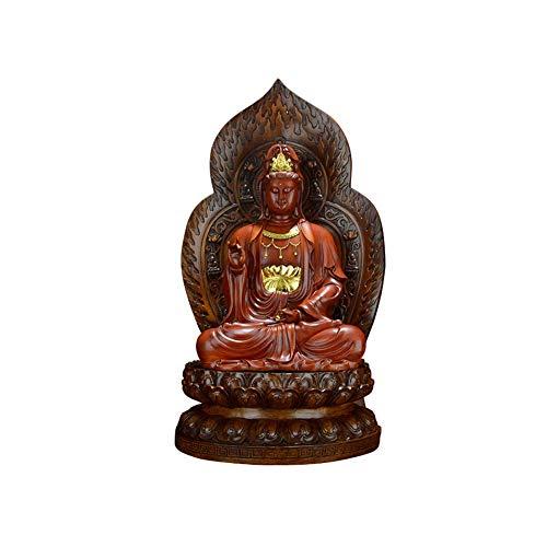 LEILEI Statua del Buddha Che Ride Resina Statua del Buddha Maitreya Feng Shui Figurine Craft Perfetto da Portare a casa o in Ufficio Ornamento,E,Meaium