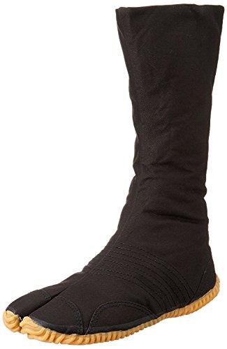 Marugo Tabi Boots Ninja-Schuhe Jikatabi (Outdoor tabi) Matsuri Jog 12, Schwarz (schwarz), 44