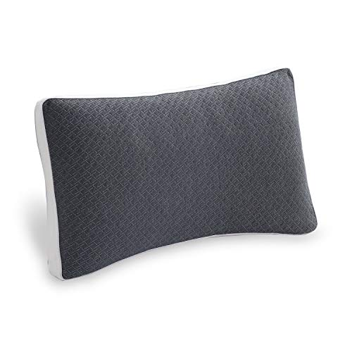 POLAR SLEEP Hypoallergenic Shredded Memory Foam Pillow - Cut Memory Foam Fill - Pillows for Side Back and Stomach Sleepers - Gibbous Moon