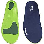 PRO 11 WELLBEING Orthotic Insoles Full Length with Arch Supports, Metatarsal and Heel Cushion for Plantar Fasciitis Treatment